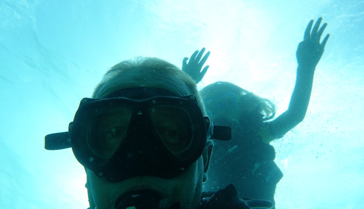 Plongeurs débutants